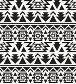 Seamless black and white navajo pattern — Stock Vector