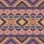 Seamless knitted navajo pattern — Stock vektor