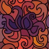 Hand drawn henna patten — Cтоковый вектор