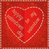 Sevgililer günü kartı çiçek arka plan ile — Stok Vektör