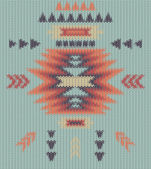 Seamless knitted navajo pattern — Stock Vector