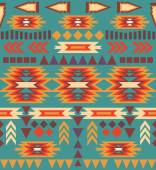 Seamless colorful navajo pattern — Vecteur