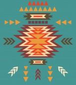 Colorful decorative ethnic pattern — Stock vektor