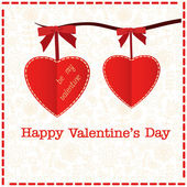 Valentines day card with hearts — Stock Vector
