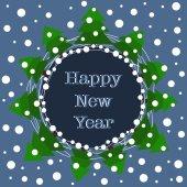 Novoroční přání. — Stock vektor