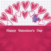 Card for Valentine's day, — Stock Vector