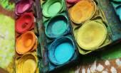 彩色涂料 — 图库照片