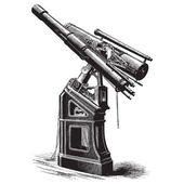 Equatorial telescope — Stock Vector