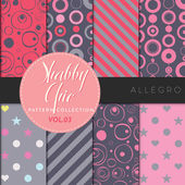 Shabby Chic Pattern Collection - Allegro — Stock Vector