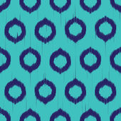 Vector seamless ikat pattern — Vettoriale Stock