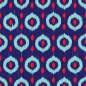 Vector seamless ikat pattern — Stock Vector