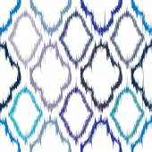 Ikat seamless pattern design — Stock Vector
