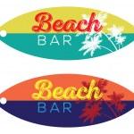 Beach Bar Surfboard — Stock Vector #80050284