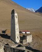 Torens van ingoesjetië. oude architectuur en ruïnes — Stockfoto