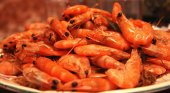 A Boiled Shrimps Background ready for eating — Stock Photo