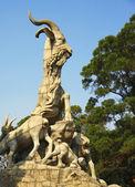 Five goats statue in Guangzhou city China — Stock Photo