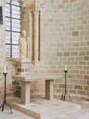 Statue in Church-abbey of Mont Saint Michel. — Stock Photo