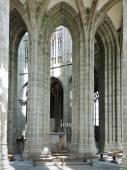 Column in hall of church-abbey Mont Saint Michel — Stock Photo
