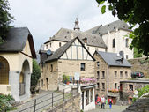 Houses in Beilstein village, Moselle river region — Stock Photo