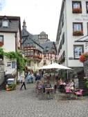 Marketplace square in Beilstein village, Germany — Stock Photo