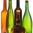 Side view of few empty closed wine bottles — Stock Photo #53055331