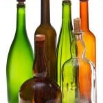 Side view of several empty closed wine bottles — Foto de Stock   #53055353