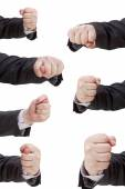 Set of hand gesture with clenched fingers — Stock Photo