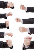 Set of fist punch - hand gesture — Stock Photo