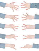 Set of counting female hands — Stock Photo