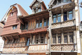 Old medieval half-timbered house in Eretrat town — Stock Photo