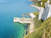 Rocky coast of english channel — Stock Photo
