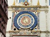 Renaissance clock on rue du gros horloge, Rouen — Stock Photo