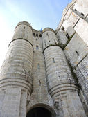 Türme der abtei mont-saint-michel in der normandie — Stockfoto