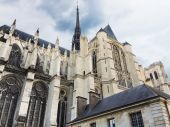 Exterior of Amiens Cathedral, France — Stock Photo
