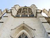 Facade of medieval Amiens Cathedral — Stock Photo