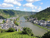 Moselle river and Cochem town in Germany — Stock Photo