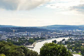 View of Deutsches Eck in Koblenz town, Germany — Stock Photo