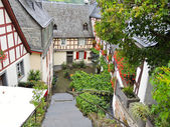Traditional houses on street in german village — ストック写真
