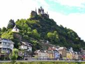 View of castle over Cochem town, Germany — Stock Photo
