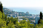 Above view of Yalta city — Stock Photo