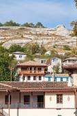 Living district in old part of Bakhchisarai city — Stock Photo
