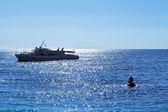 Black sea near Mishor resort area in evening — Stock Photo