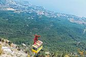 Cableway on Southern coast of Crimea — Foto de Stock