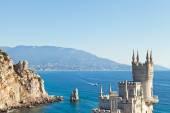 Swallow Nest castle and rock Parus (Sail), Crimea — Stock Photo