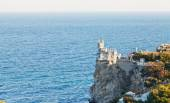 Swallow Nest castle on South Coast of Crimea — Stock Photo