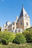 Massandra palace towers from garden, Crimea — Stock Photo