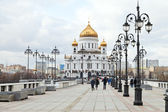 View of Cathedral of Christ the Saviour, Moscow — Stock Photo