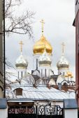 Dome of Zachatyevsky convent church in Moscow — Foto de Stock