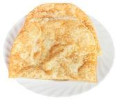 Chiburekki pie on white plate isolated — Stock Photo