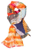 Knot from patchwork and batik scarf isolated — Stock Photo